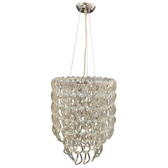 Hand Blown Linked Glass Chandelier