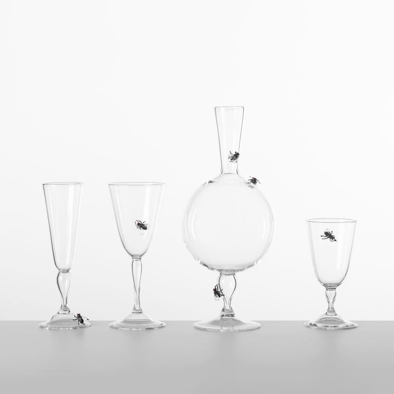 Other 'Vanitas Low Glass' Hand Blown Glass by Simone Crestani For Sale