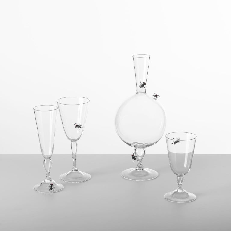 'Vanitas Low Glass' Hand Blown Glass by Simone Crestani In New Condition For Sale In Camisano Vicentino, IT