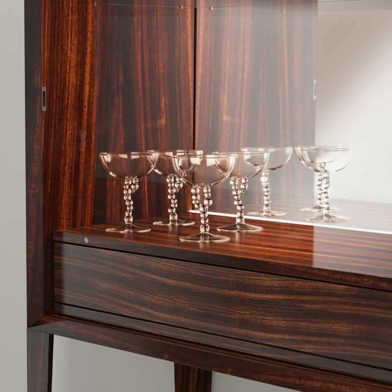 Contemporary Hand Blown Manhattan Glass from Alchemica Collection by Simone Crestani For Sale