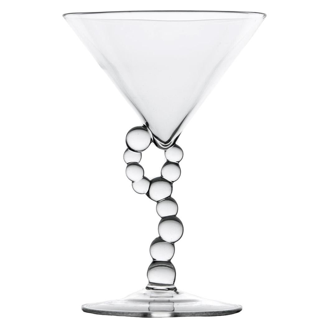 Hand Blown Martini Glass from Alchemica Collection by Simone Crestani