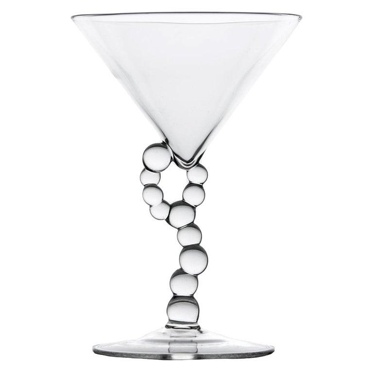 'Alchemica Martini Glass' Hand Blown Glass by Simone Crestani For Sale