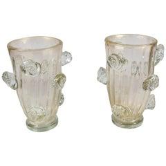 Hand Blown, Midcentury, Murano Vases