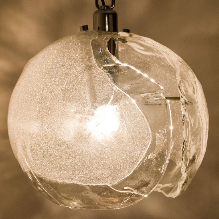 Mid-Century Modern Hand Blown Modern Murano Chandelier, Murano Glass, 1970 For Sale