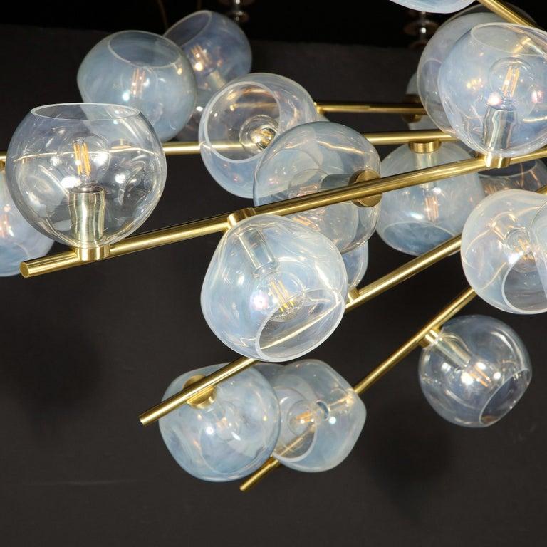 Hand Blown Murano Glass and Brass