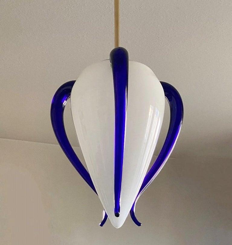 Italian Hand Blown Murano Glass Pendant by Barovier & Toso, Model