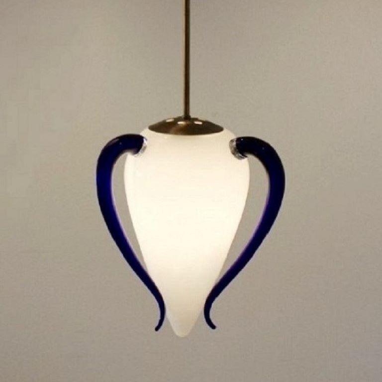 Hand Blown Murano Glass Pendant by Barovier & Toso, Model