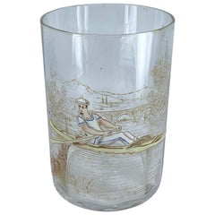 Hand Blown Murano Rowing Glass