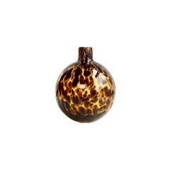 Hand Blown Small Glass Tortoise Balloon Vase in Brown