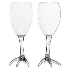Hand Blown Wine Glasses from Gajna Wine Set by Simone Crestani