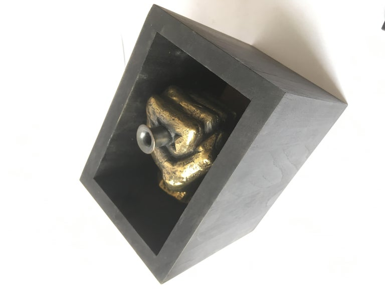 Hand Bronze Sculpted Vase by Gustavo Dias For Sale 2