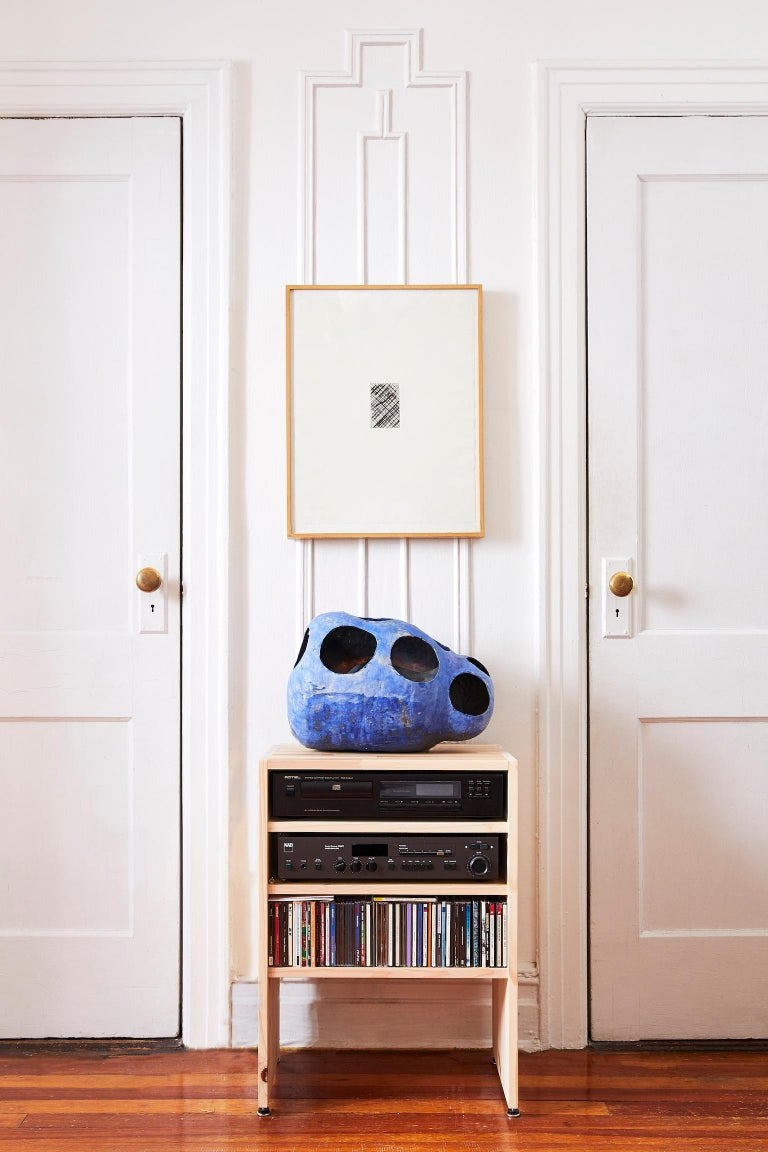 Modern Hand-Built Ceramic Contemporary Sculpture in Cobalt Blue Oxide by Yuko Nishikawa For Sale