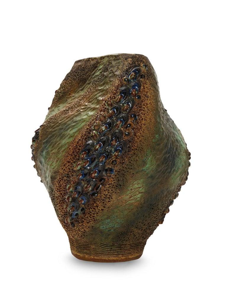 American Hand-Built Ceramic Vase by Dena Zemsky For Sale