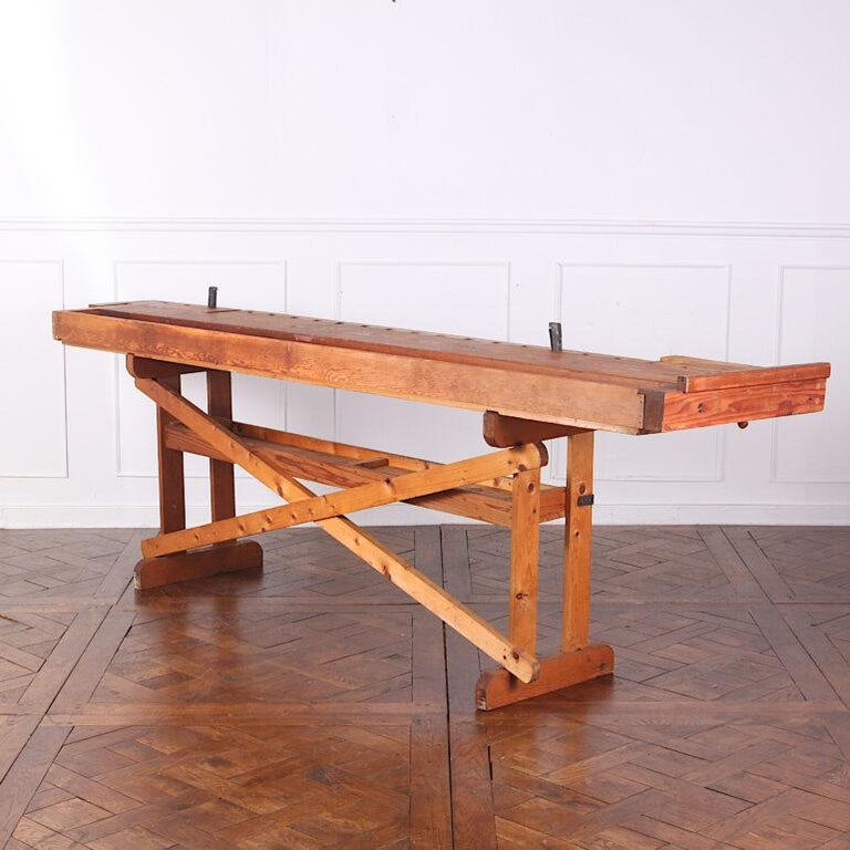 Oak Hand-Built Workbench with Two Vices