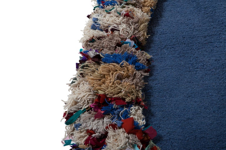 Hand Carpet, Hand Knotted in Wool and Recycled Fabrics, Lorenzo Damiani In New Condition For Sale In Milan, Lombardy