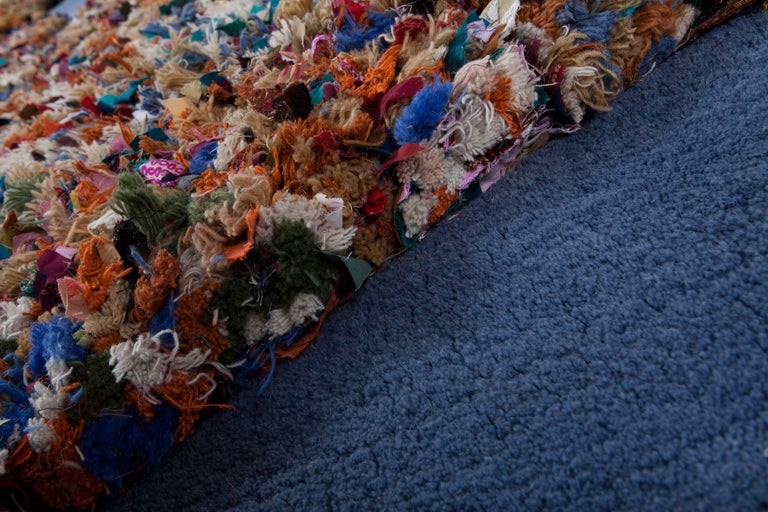 Hand Carpet, Hand Knotted in Wool and Recycled Fabrics, Lorenzo Damiani For Sale 2
