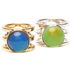 Hand Carved 14 Karat Yellow or White Gold Kind of Mood Ring by S A D É.