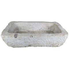 Hand Carved 19th Century French Limestone Sink