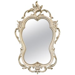 Hand Carved Acanthus Leaf Scrollwork Mirror by Syroco