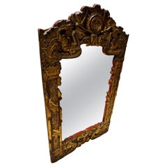 Hand Carved and Gilded Chinese Mirror