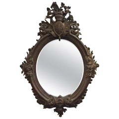 Hand Carved Antique French Mirror