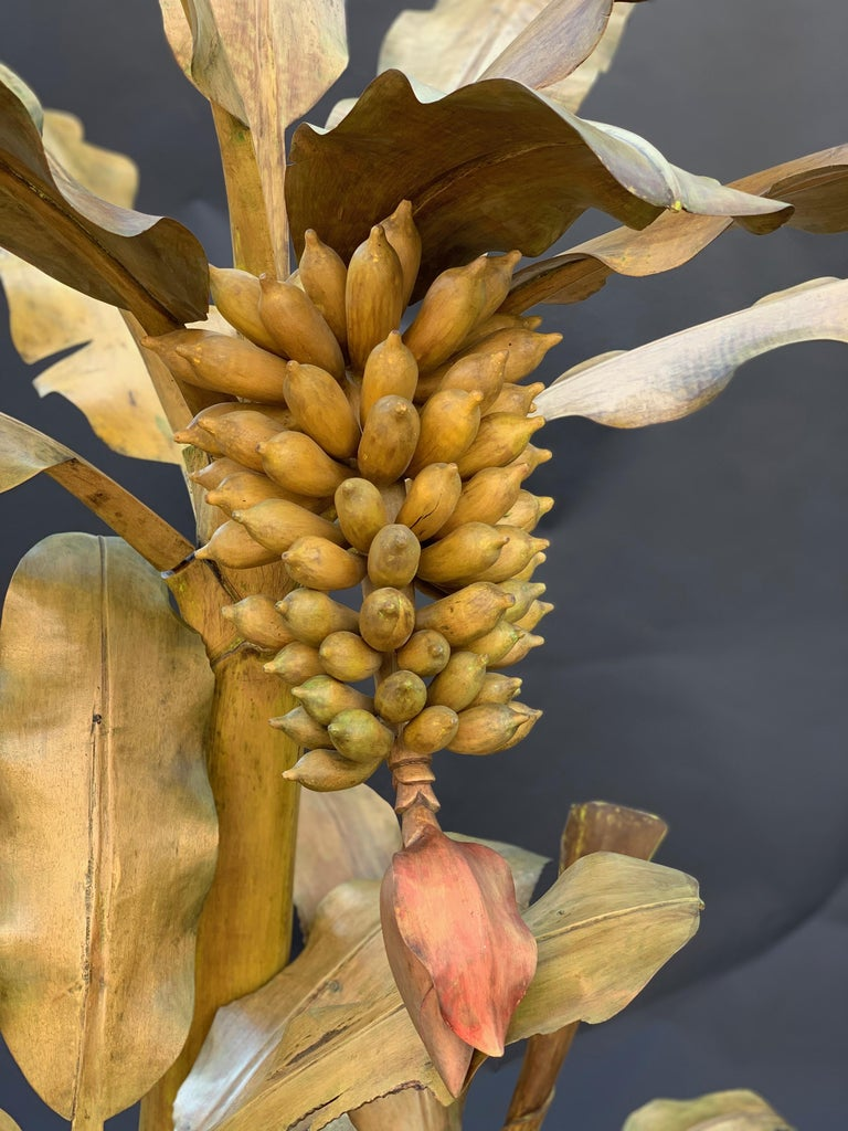 Mid-20th Century Hand Carved Banana Tree For Sale