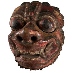 Hand Carved Borneo Mask from Bali