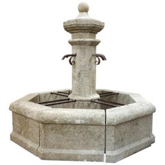 Hand Carved Central Fountain
