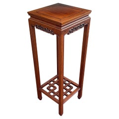 Hand Carved Chinese Rosewood Stand / Pedestal