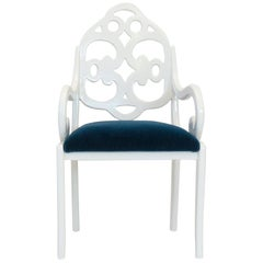 Hand Carved English Regency-Inspired Dining Chair