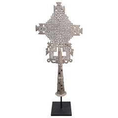 Hand Carved Ethiopian Coptic Cross, Mid-20th Century