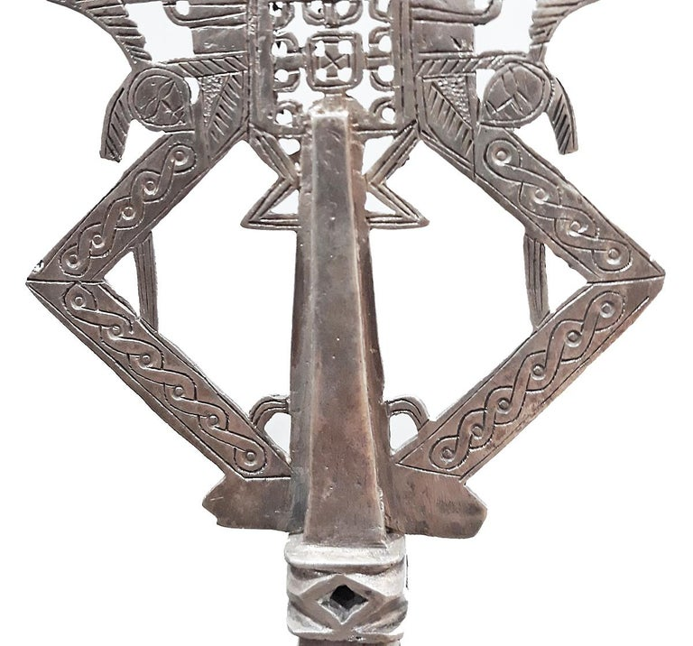 Hand-Carved Ethiopian Cross For Sale 1