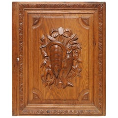 Hand-Carved Fishing Trophy Panel