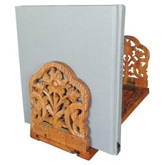 Hand Carved Folding Indian Bookstand or Shelf
