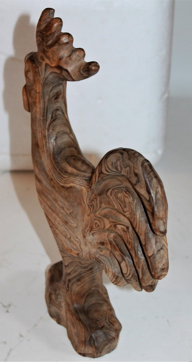 American Hand Carved Folky Chicken For Sale