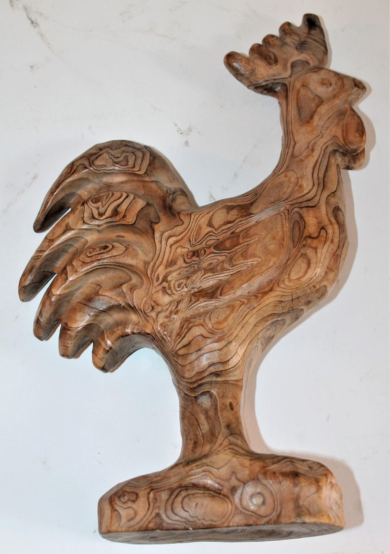 Hand-Carved Hand Carved Folky Chicken For Sale
