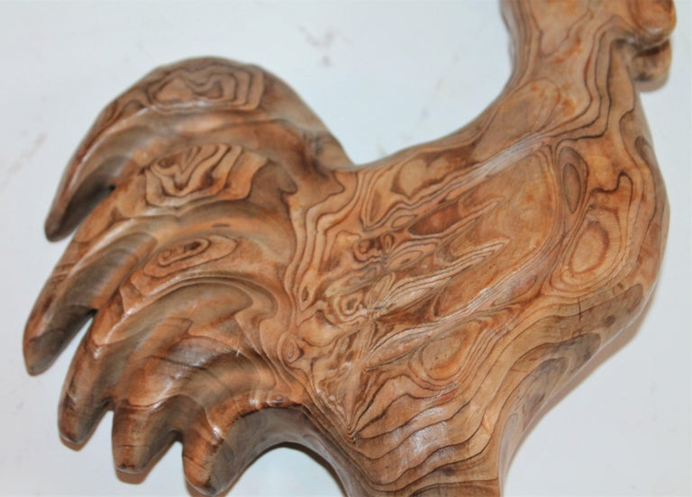 20th Century Hand Carved Folky Chicken For Sale