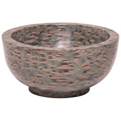Hand-Carved Footed Stone Basin