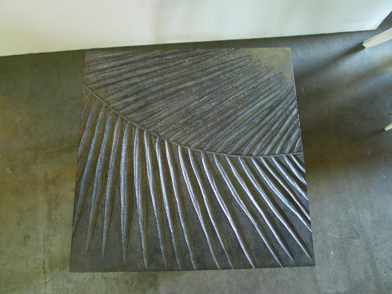 Contemporary Hand Carved Fossil Table by Paul Marra Design For Sale
