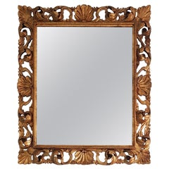 Hand Carved Gilded Rococo Mirror, Italy