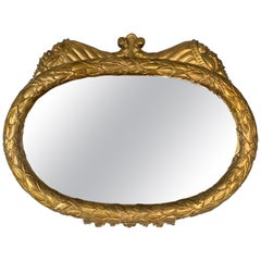 Hand Carved Giltwood and Gesso American Period Mirror, circa 1820-1840