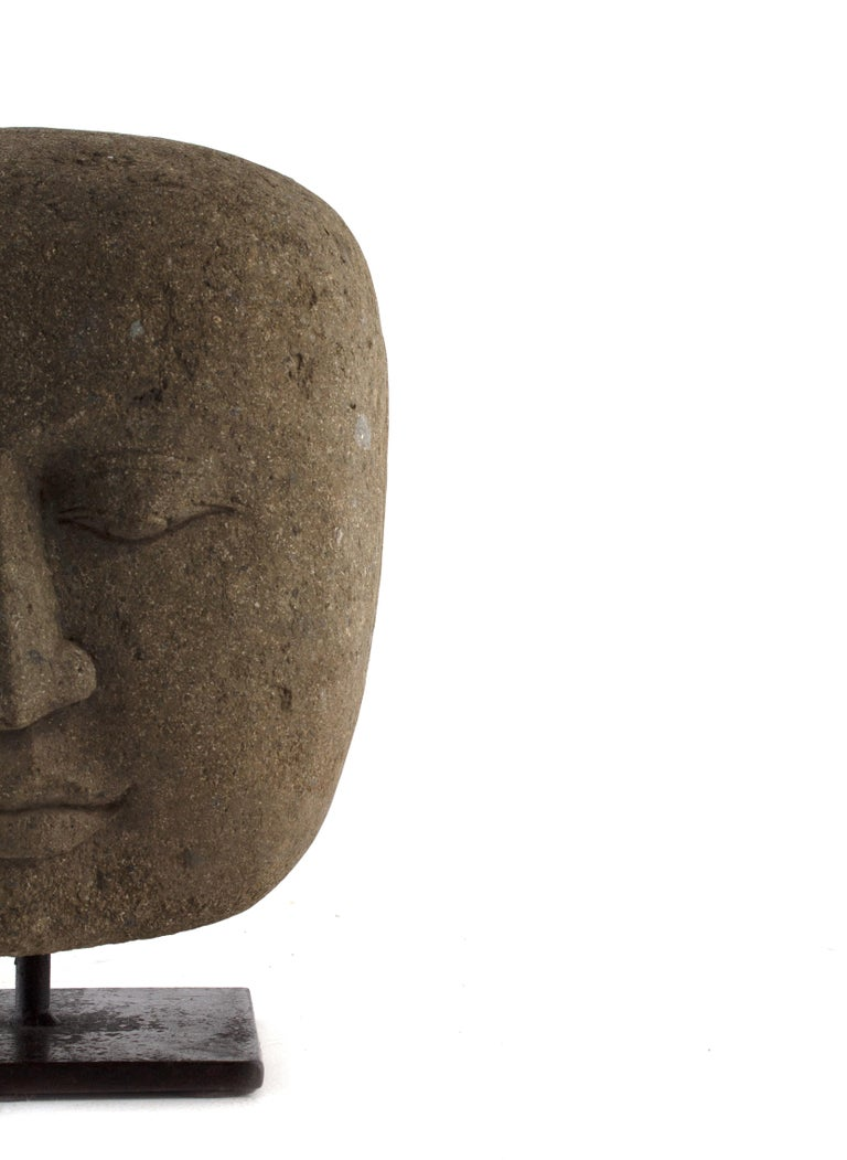 Other Hand Carved Head of Buddha, Indoor / Outdoor For Sale