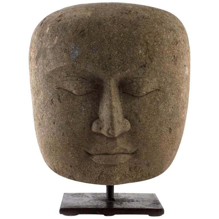 Hand Carved Head of Buddha, Indoor / Outdoor For Sale