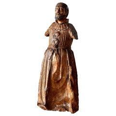 Hand Carved Italian Santo