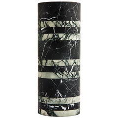 Hand Carved Large Marble Rive Vase by Greg Natale