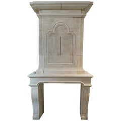 Hand Carved Limestone with Trumeau