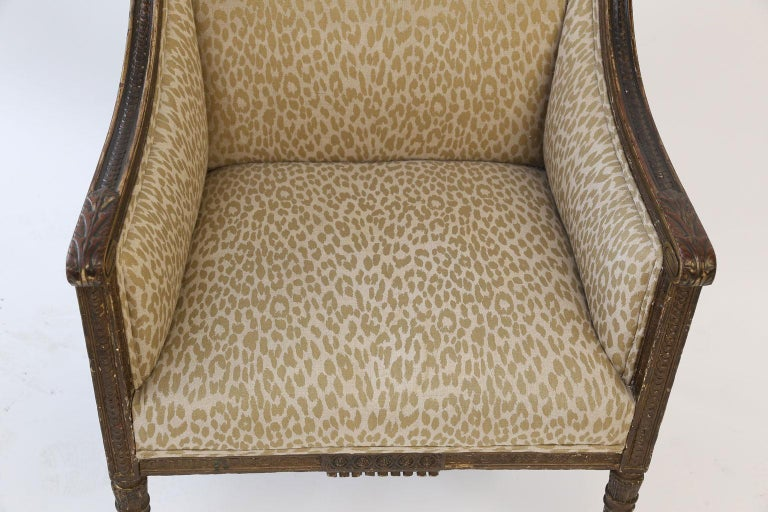 Hand Carved Louis XVI Bergere For Sale 4
