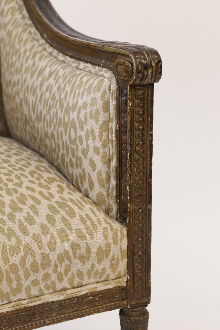 Hand Carved Louis XVI Bergere For Sale 6