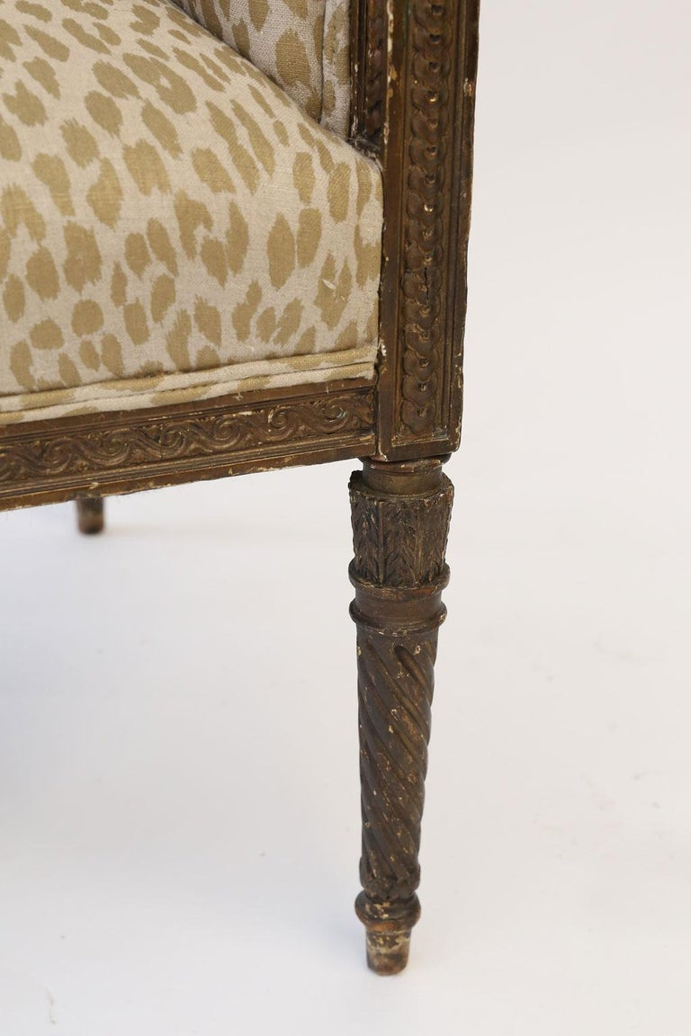 Hand Carved Louis XVI Bergere For Sale 7