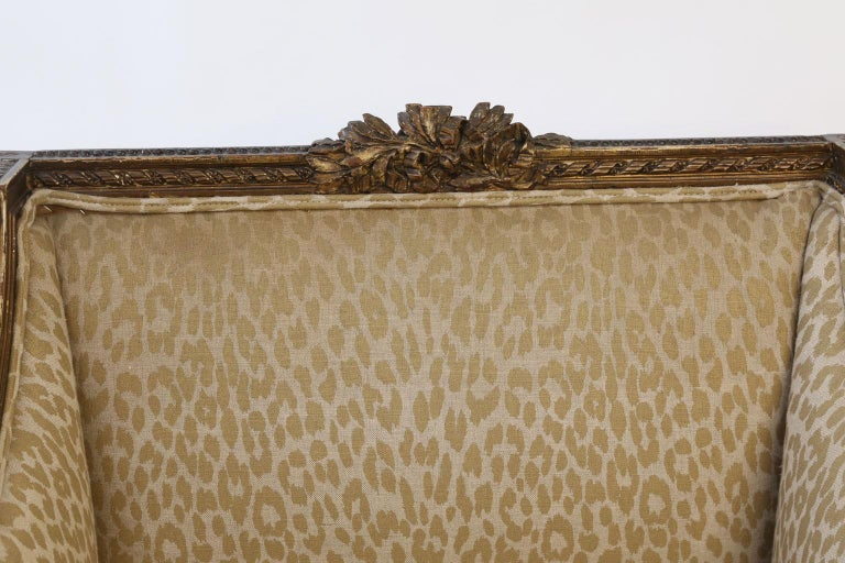 Hand Carved Louis XVI Bergere For Sale 3